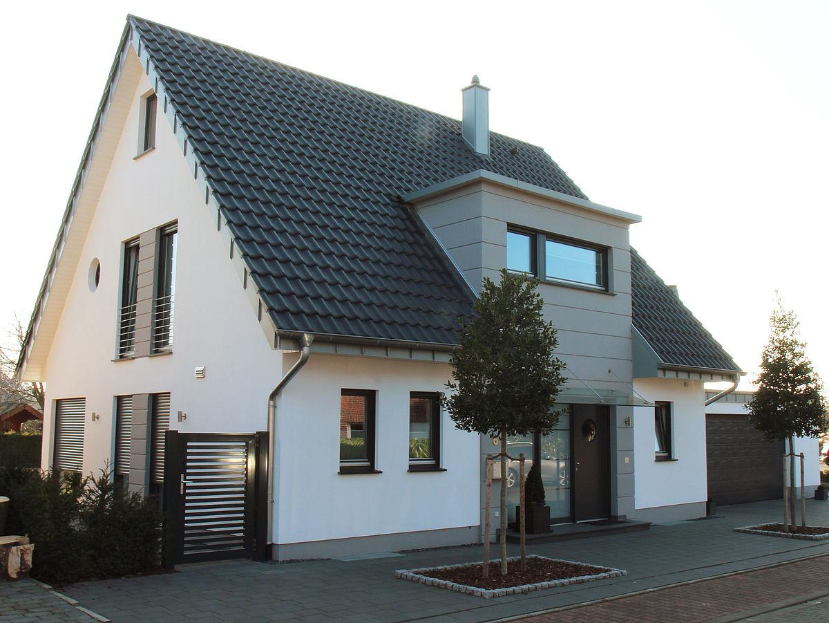 Modernes Einfamilienhaus Satteldach modernes einfamilienhaus mit satteldach vorderbrüggen bau gmbh